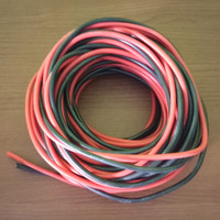 Kabel AWG 14 Fleksibel Silikon Lembut 1 Cm Warna Merah/Hitam