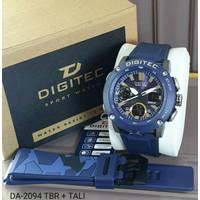 Jam Tangan Digitec Pria Rubber DA2094 DA 2094 TBR + Tali