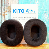 KITO Earpad for ATH M20 / 30 / 40 / 50x (Protein Leather) - Velour