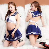 Sexy Lingerie Cosplay Sekolah Jepang Sailor Moon Baju Rok Sexy Wanita
