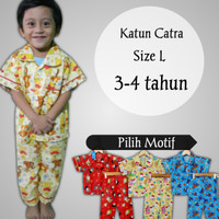 Piyama baju tidur anak 1-5 tahun size L katun catra