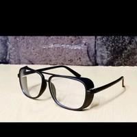 Kacamata gaya kacamata motor steampunk Tony Stark Kacamata pria wanit