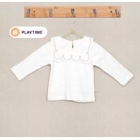 ORAMI - Sailor Collar Top Girl White