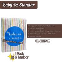 ORIGINAL Alas Ompol Baby Oz Garis STANDAR/ Popok Murah/ Popok Lurik Pe