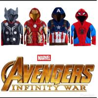 Jaket anak karakter avengers spiderman ironman captain america thor