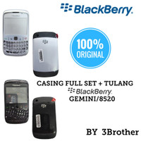 Casing Blackberry Gemini 8520 Full Set Original