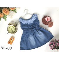Baju Bayi Jeans Denim Dress Levis Anak Renda 18-36 bulan