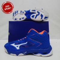 Sepatu Volly Mizuno WLZ 5 Mid Wave Lighting Z 5 Sepatu Voli Biru