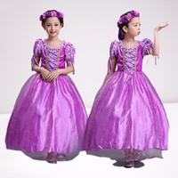Baju Princess Anak Perempuan Kostum Princess Rapunzel Ungu