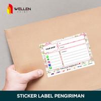 Cetak Sticker Label Pengiriman Olshop Custom Stiker HVS 160 gsm