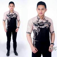 Baju Faforit Kemeja Grosir Batik Lengan Pendek Pria Keren Distran Good