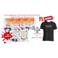 Paket Autodesk Inventor Professional (6Buku & 6DVD) + Diskon + Tshirt