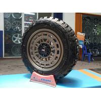 Paket Velg Myth08 Hsr Plush Ban Pacul M/T Ring 18-Pelek Mobil Pajero