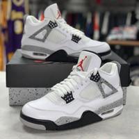 Sepatu Nike Air Jordan 4 Retro OG White Cement 2016