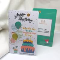 0.1g Happy Birthday Hijau Emas Mini Gift Series by KE