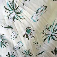 kain bahan baju meteran katun rayon motif rumput teki