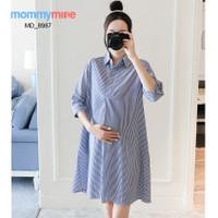 Mommymine Dress Hamil / Menyusui Impor (MD_8987)