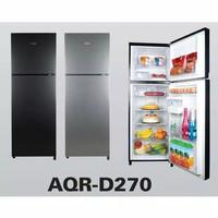 Kulkas Aqua 2 pintu AQR D 270 twist ice maker
