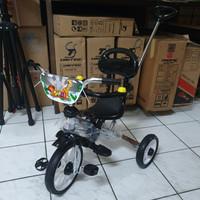 Sepeda anak Roda tiga PMB tongkat stir nickel chrome