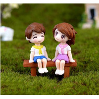Miniature Lover Figures - Lovers Couple Figurines #20 (3pcs)