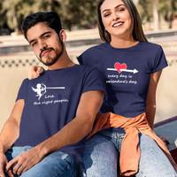 HN - Baju Kaos Couple Lengan Pendek Motif Cupid