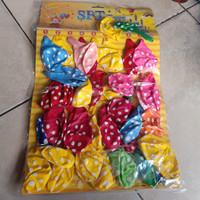 balon karet lembaran polkadot isi 40 pcs 12 inch grosir balon latex