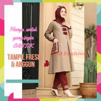 Baju Setelan Wanita Premium Set Baju Muslim Wanita Celana Panjang