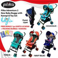 Stroller Pliko Adventure 2 New Baby Buggy Toy Set Kereta Bayi Pliko -