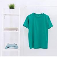 Kaos Polos Cotton Combed 30s 100% Cotton Original Warna Hijau Tosca - M