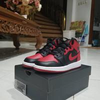 Nike Air Jordan 1 Mid Bred Banned 2020