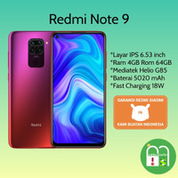 Xiaomi Redmi Note 9 Ram 4/64 Garansi Resmi