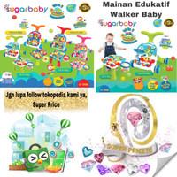 Sugar Baby 10 in 1 Premium Activity Push Walker & Table Mainan Bayi - Orange, Pack standard