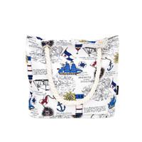 Tote bag kanvas bon voyage kokoh-Tas tenteng cantik dan fungsional