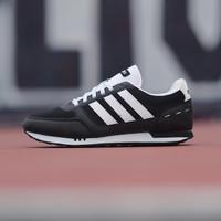 Sepatu Sneakes Casual Original ADIDAS NEO CITY RACER BLACK LIST WHITE