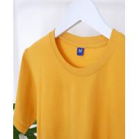 Kaos Polos Cotton Combed 30s 100% Cotton Original Warna Kuning Mustard