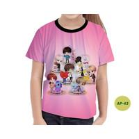 Baju Anak Perempuan BTS Series 3D Murah #AP-43