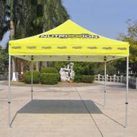 Tenda Lipat Alumunium Hexa - Print Atap Logo Tulisan Gambar