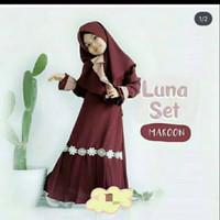 Luna Set Kids Gamis Anak Perempuan Baju Muslim Anak Usia 5-6-7 Tahun
