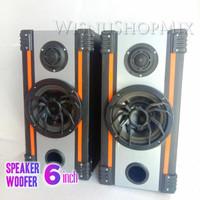 Paket Rakitan Speaker 6 inch dan Tweeter +Box