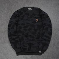 Jaket Pria Sweater Crewneck BAPE Camo Bathing Ape Premium Cotton