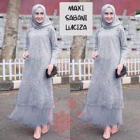 gamis maxi baju muslim wanita maxy pesta seragam pernikahan mewah