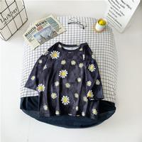 T Shirt Bunga Matahari Crop Top Kaos OVERSIZE PENDEK