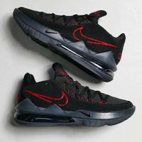 Sepatu Nike Lebron 17 Low Black Red
