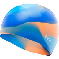 TYR Swim Silicone Cap Tie Dy Junior - Blue Orange