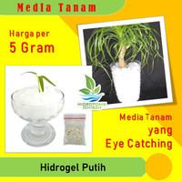 Media Tanam HIDROGEL hydrogel Warna PUTIH Kemasan 5 Gram