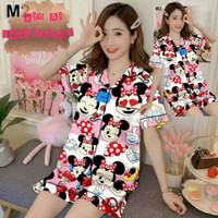 Piyama Pajamas Baju Tidur (HP) Dewasa Motif Mickey Mouse - all size, Minnie Pink