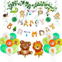 Balon Ulang Tahun Dekorasi Jungle Party Balloons Decoration Kit, Seri2