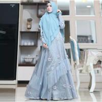 gamis safirah dress pesta muslimah baju mewah wanita syari ori