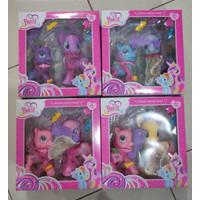 Mainan anak kuda pony figure 2pc aksesoris little horse sayap rambut