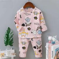 Piyama / Baju tidur anak perempuan/ cewek import umur 1 - 6 tahun.